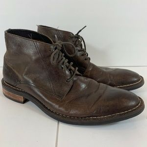 Cole Haan Mens Brown Leather Chukka Chelsey Boots